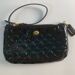Lg Coach embossed Patton leather wristlet/clutch